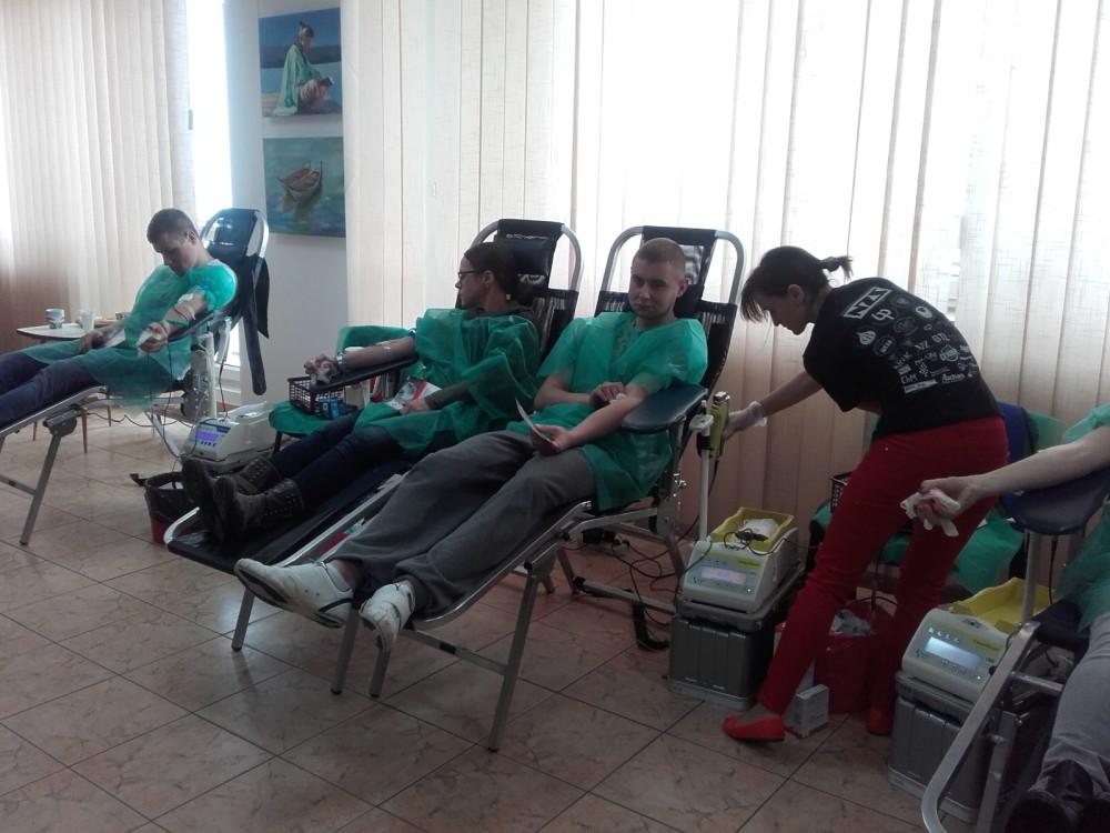Akcja poboru krwi w Mońkach - 12.02.2017 r.