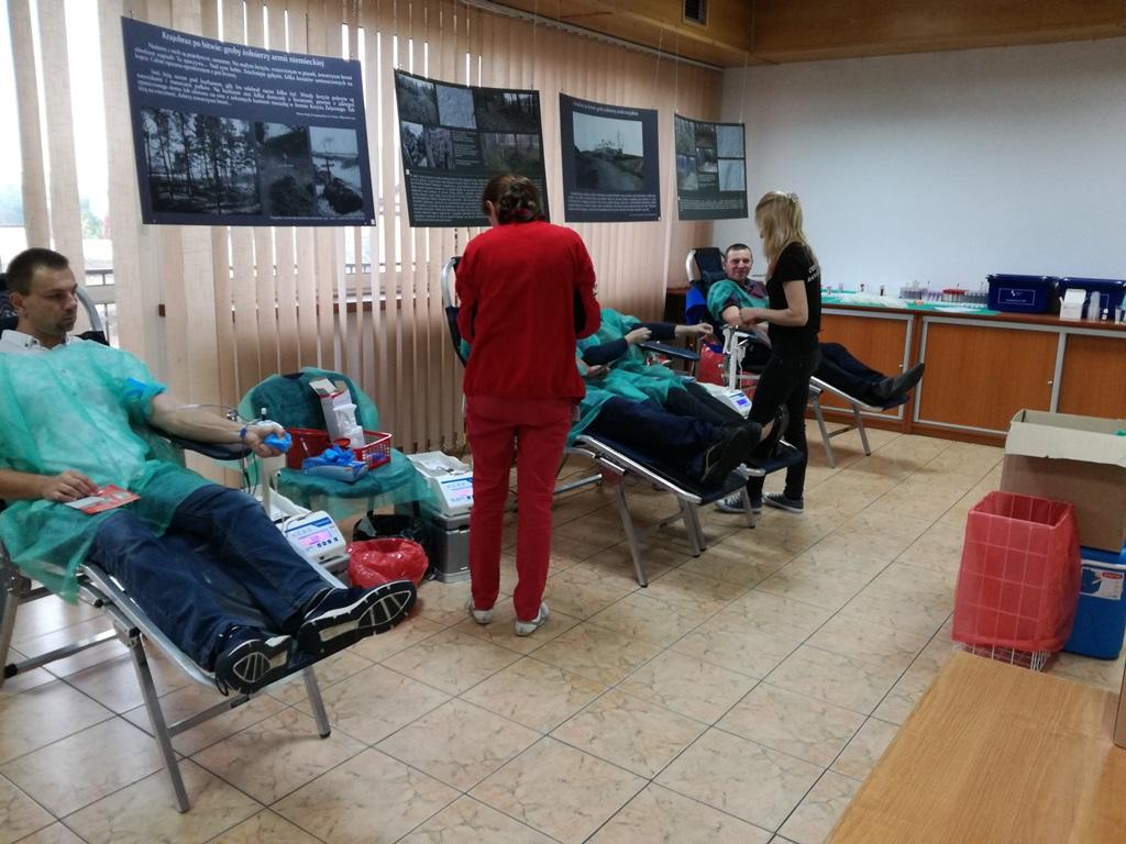 Akcja pobierania krwi w Monkach - 08.10.2017 r.
