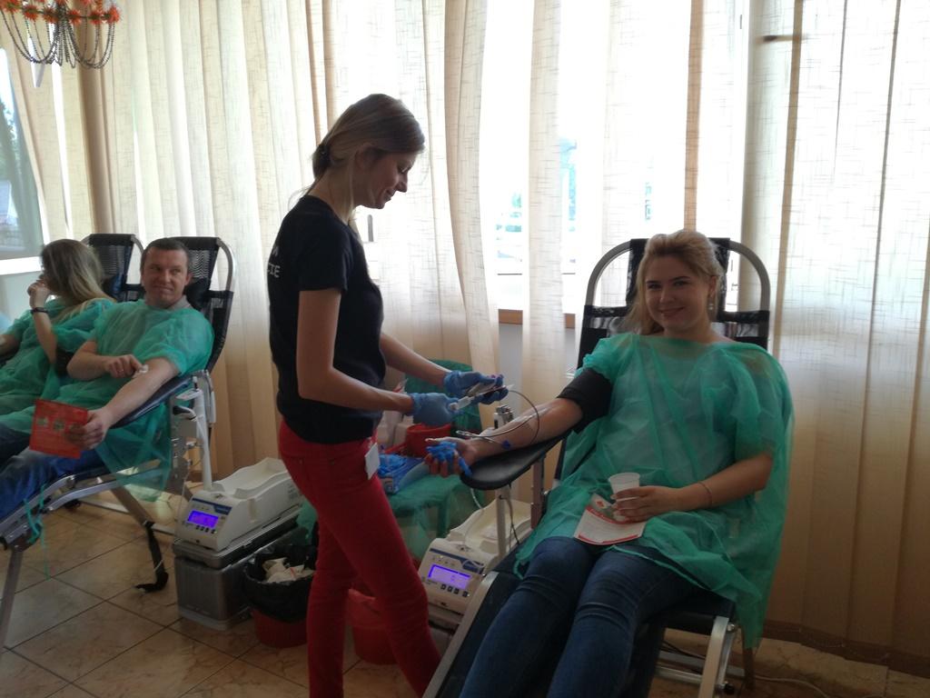28 maja 2018 r. oddawaliśmy krew w Mońkach