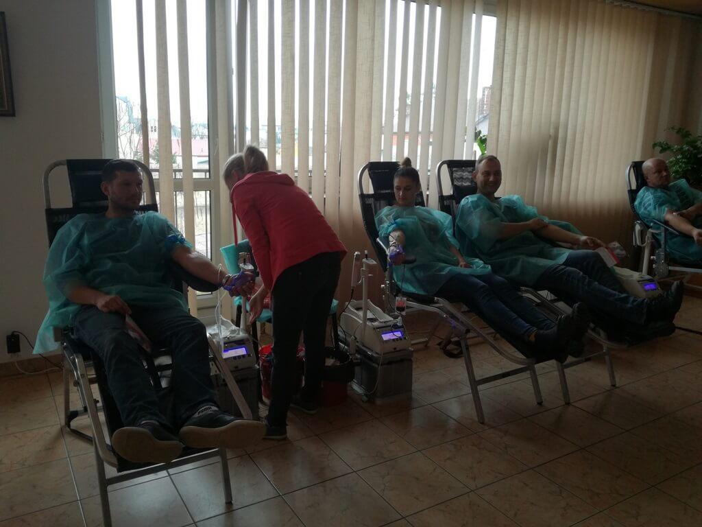 10 listopada 2019 r. oddawaliśmy krew w Mońkach