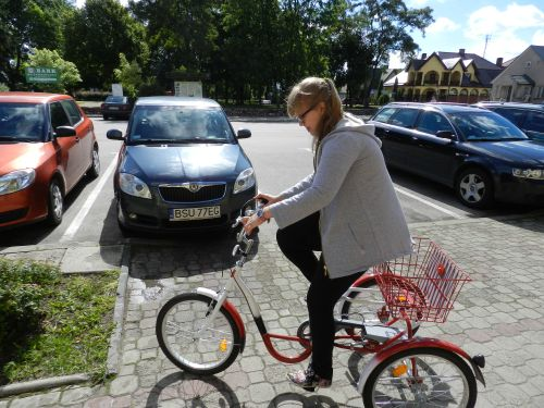 Podarowanie roweru mieszkance Przerośli